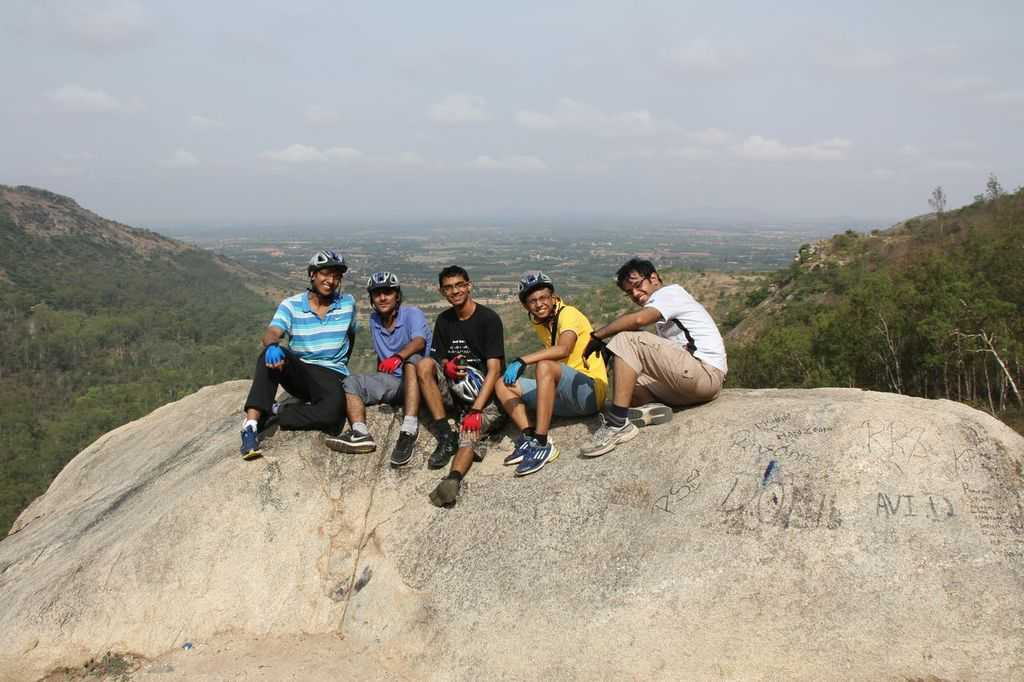 On the way to the top of the Nandi Hills
