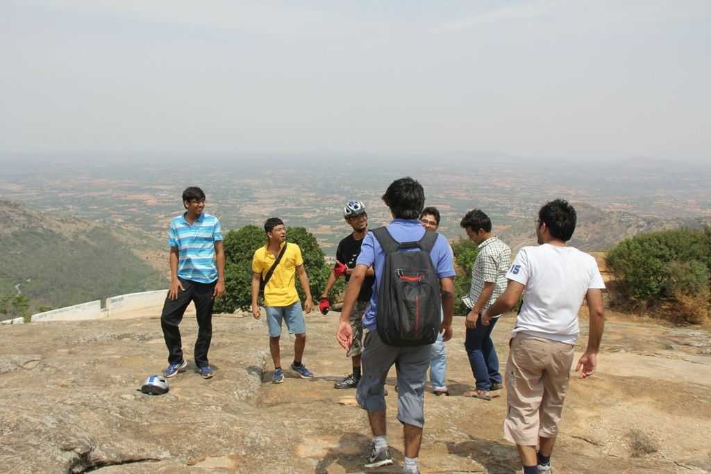 Tipu's Drop at Nandi Hills can be seen in the background